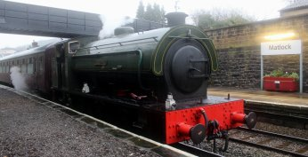 Nov 2014 Peak Rail Matlock - Hunslet Austerity 0-6-0ST Lord Phil