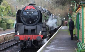 Watercress Railway 2014 Medstead and Four Marks Christmas Santa Specials - BR Standard 9F 92212