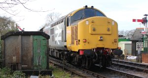 Watercress Railway 2014 Medstead and Four Marks Christmas Santa Specials - class 37 37901 Mirrlees Pioneer