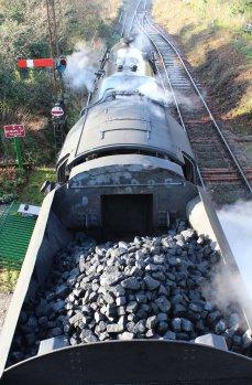 Watercress Railway 2014 Ropley Christmas Santa Specials - BR Standard 9F 92212