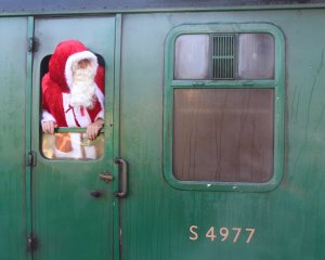 Watercress Railway 2014 Ropley Christmas Santa Specials - Father Christmas Santa Claus