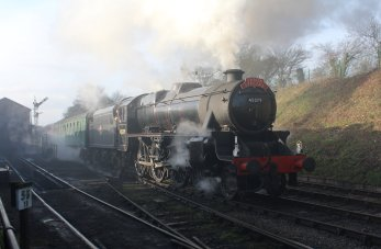 Watercress Railway 2014 Ropley Christmas Santa Specials - Ex-LMS Black 5 45379