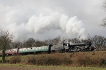 Watercress Railway 2014 Bowers Grove Lane Christmas Santa Specials - Ex-LMS Black 5 45379