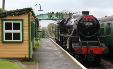 Watercress Railway 2014 Medstead and Four Marks Christmas Santa Specials - Ex-LMS Black 5 45379