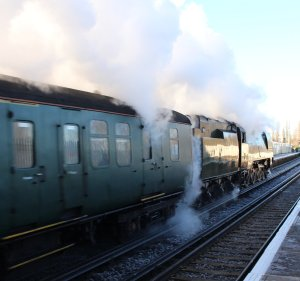 The Bath Christmas Market December 2014 Emsworth - Battle pf Britain class 34067 Tangmere