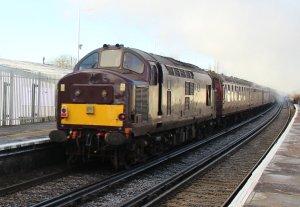 The Bath Christmas Market December 2014 Emsworth - Class 37 37668