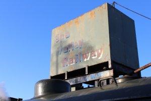 Spa Valley Railway 2014 Tunbridge Wells West - Hunslet Austerity 3155 War Department WD 75105 Walkden water tower