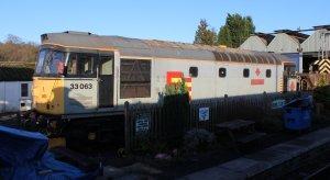 Spa Valley Railway 2014 Tunbridge Wells West - Railfreight liveried class 33 no.33063 R.J. Mitchell