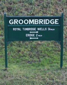 Spa Valley Railway 2014 Groombridge - sign