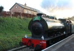 Spa Valley Railway 2014 Groombridge - Hunslet Austerity 3155 War Department WD 75105 Walkden