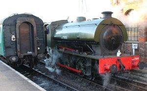 Spa Valley Railway 2014 Tunbridge Wells West - Hunslet Austerity 3155 War Department WD 75105 Walkden