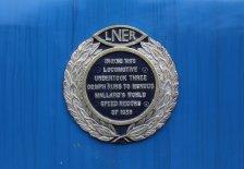 Mid Hants Railway Spring Steam Gala 2015 Ropley - LNER A4 Class 4464 Bittern plaque