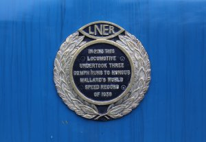 Mid Hants Railway Spring Steam Gala 2015 Ropley - LNER A4 Class 4464 Bittern plaque