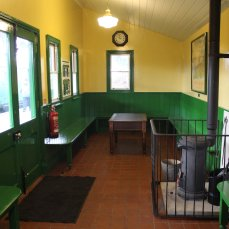 Mid Hants Railway Spring Steam Gala 2015 Ropley waiting room
