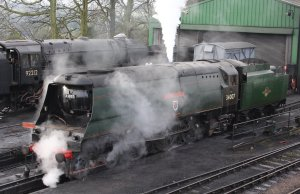 Mid Hants Railway Spring Steam Gala 2015 Ropley - West Country Class 34007 Wadebridge