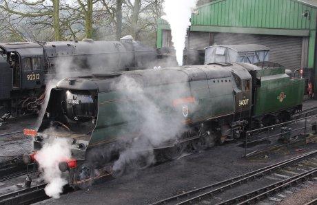 Mid Hants Railway Spring Steam Gala 2015 Ropley - West Country Class 34007 Wadebridge