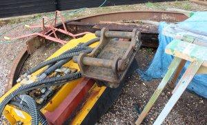 Mid Hants Railway Spring Steam Gala 2015 Medstead and Four Marks wagon turntable