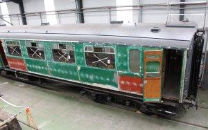 Mid Hants Railway Spring Steam Gala 2015 Ropley - Bulleid carriage
