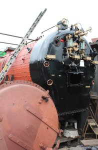 Mid Hants Railway Spring Steam Gala 2015 Ropley - S15 class boiler