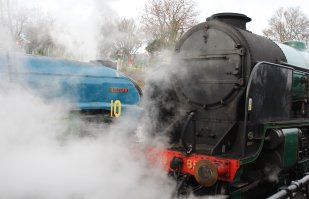 Mid Hants Railway Spring Steam Gala 2015 Ropley - LNER A4 Class 4464 Bittern & 850 Lord Nelson