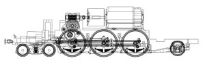 Hornby unrebuilt Merchant Navy chassis design