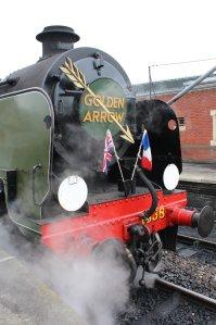 2015 - Bluebell Railway - Sheffield Park - Southern Railway Maunsell U class 1638 (Golden Arrow regalia)