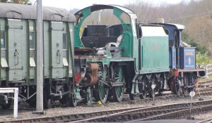 2015 - Bluebell Railway - Sheffield Park - Southern Railway Schools-class No.928 Stowe frames and P class 323 Bluebell