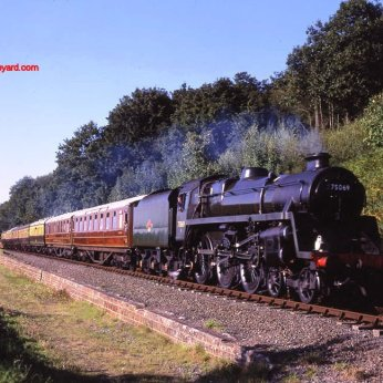 Severn Valley Railway - 1993 BR Standard class 4MT 75069 BR Green by Basil Roberts