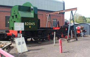 2015 - Severn Valley Railway Bridgnorth - British Railways Standard 3MT  2-6-2T class new build 82045