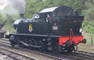 2015 - Severn Valley Railway Bridgnorth - Ex-GWR 45xx 4566 BR black