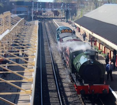 2015 - East Lancashire Railway Bury Bolton Street - WD Hunslet Austerity 132 Sapper edit