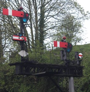 2015 - Severn Valley Railway Bridgnorth signal gantry