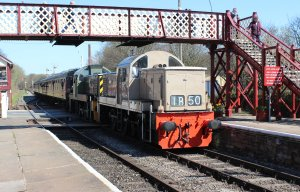 029 2015 - East Lancashire Railway Ramsbottom - Class 14 diesel-hydraulic locomotive D9531 and D9531 Ernest