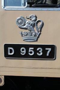 036 2015 - East Lancashire Railway Ramsbottom - Class 14 diesel-hydraulic locomotive D9531 numberplate crest