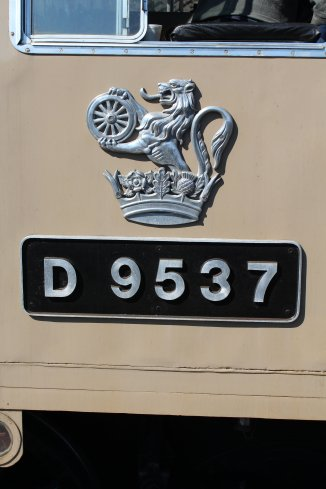 036 2015 - East Lancashire Railway Ramsbottom - Class 14 diesel-hydraulic locomotive D9531 numberplate crest