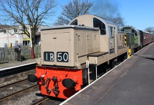 2015 - East Lancashire Railway Ramsbottom - Class 14 diesel-hydraulic locomotive D9531 and D9531 Ernest