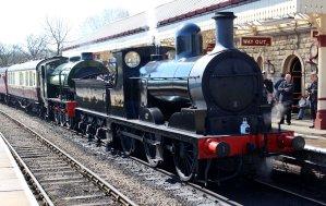 2015 - East Lancashire Railway Ramsbottom - Hunslet Austerity War Department 75008 Swiftsure & Aspinall L&YR Class 27 1300 LMS 12322