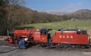 2015 - Ravenglass and Eskdale Railway - No. 9 River Mite 2-8-2