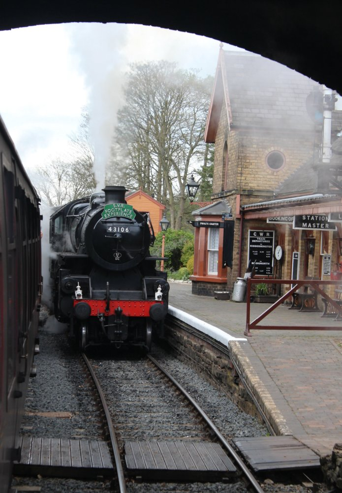 2015 - Severn Valley Railway Arley - BR Ivatt 4MT 2-6-0 43106
