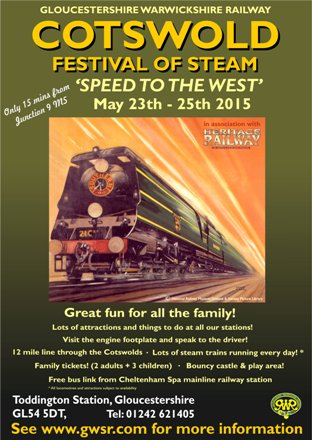 """GWSR """"Speed to the West"""" Cotswold Festival of Steam 