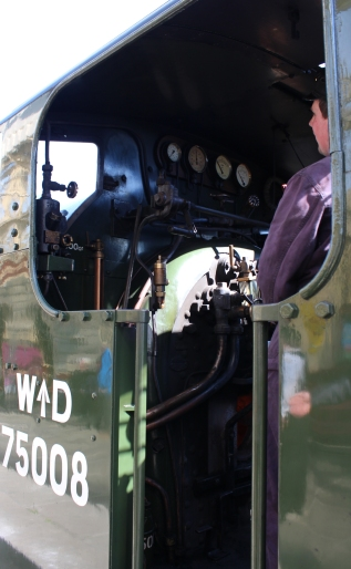 2015 - East Lancashire Railway Ramsbottom - Hunslet Austerity War Department 75008 Swiftsure cab