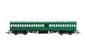 Hornby SR 58' Maunsell Rebuilt (Ex-LSWR 48') Nine Compartment Lavatory Third Class Coach - R4720