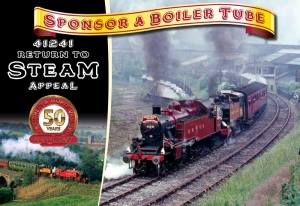 Ivatt 41241 Boiler Tube Appeal - 50th Anniversary Return to Steam