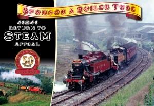 Ivatt 41241 Boiler Tube Appeal - 50th Anniversary Return to Steam
