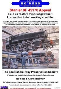 The 45170 Appeal Bo'ness & Kinneil Railway 45170 (Poster)