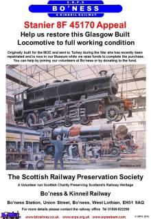 The 45170 Appeal Bo'ness & Kinneil Railway 45170 (Poster)