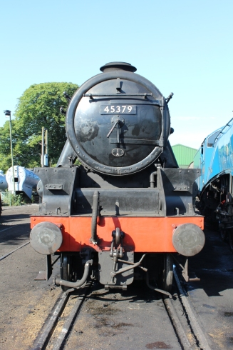Watercress Line Ropley 10th July 2015 Black 5MT 45379 smokebox face