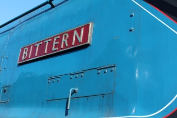 Watercress Line Ropley 10th July 2015 LNER A4 class 4464 Bittern nameplate