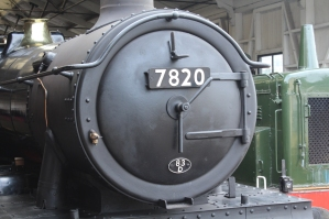 Paignton and Dartmouth Railway Kingswear July 2015 BR unlined black 7820 Dinmore Manor (02)