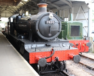 Paignton and Dartmouth Railway Kingswear July 2015 BR unlined black 7820 Dinmore Manor